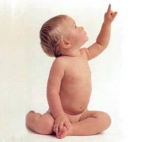 2голый младенец