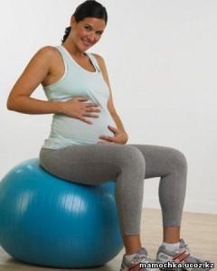 10беременная на мяче